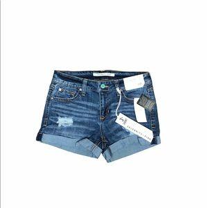 NWT Celebrity Pink Rayna Cuffed Denim Shorts 25